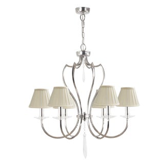 Pimlico Polished Nickel Chandelier For Sale