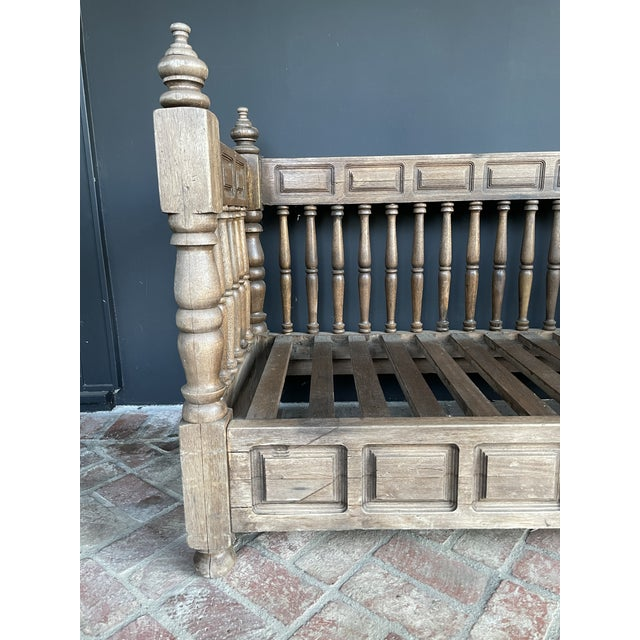 Early 20th Century European Wood Daybed For Sale - Image 4 of 9