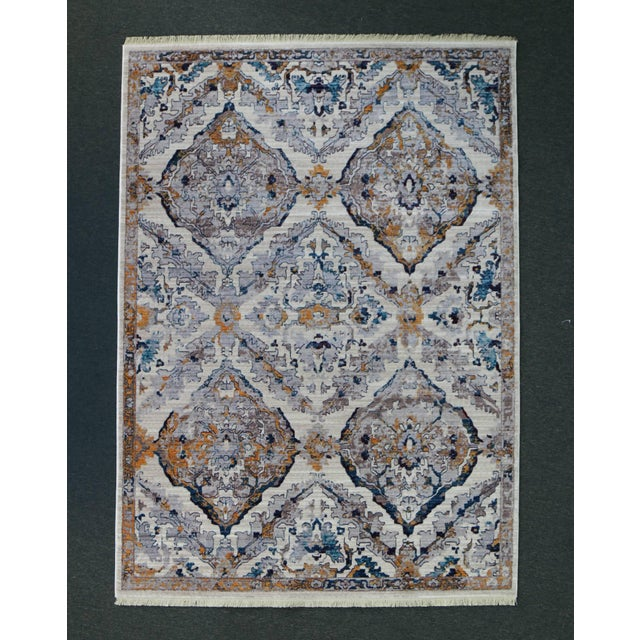 Faded Southwestern Kilim Patterned Tribal Cotton Rug - 4'x6' For Sale - Image 9 of 10