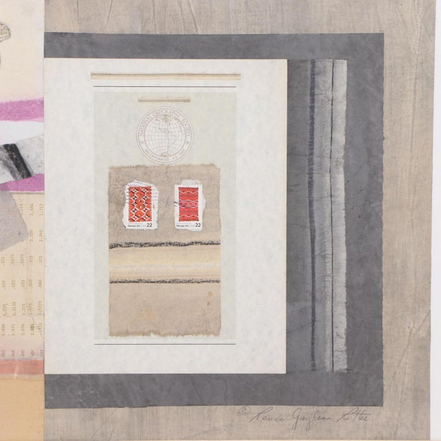 Vintage Abstract Mixed Media Collage For Sale In Los Angeles - Image 6 of 7