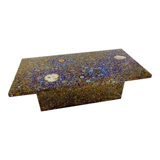INTERSTELLAR coffee table in titanium by Xavier Mennessier