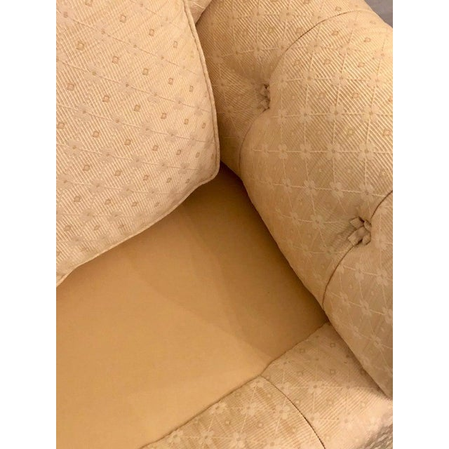 White Pair of Lined and Pleated Spectacular Overstuffed Boudoir or Lounge Chairs For Sale - Image 8 of 13