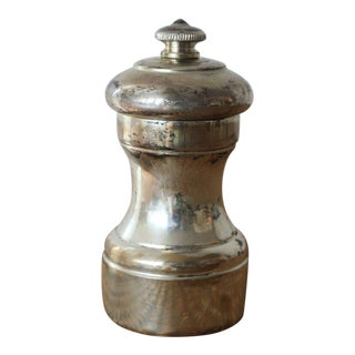 Mid 20th Century Peugeot Sterling Silver Pepper Mill For Sale