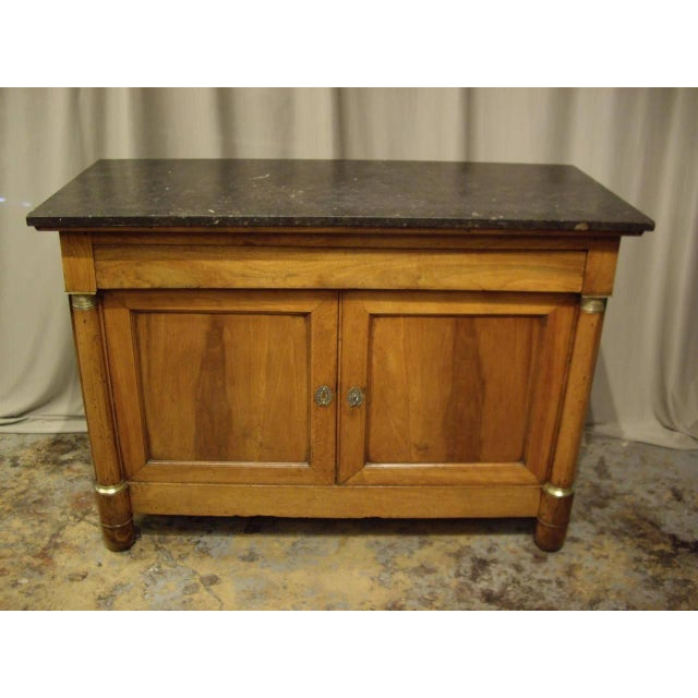 French Provincial French Provincial Empire Walnut Buffet For Sale - Image 3 of 10