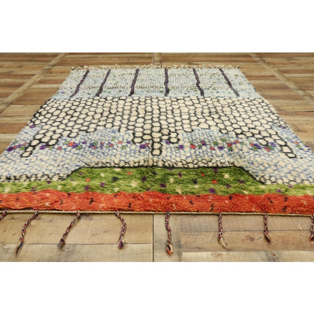 Textile Moroccan Contemporary Berber Rug - 05'08 X 07'05 For Sale - Image 7 of 10