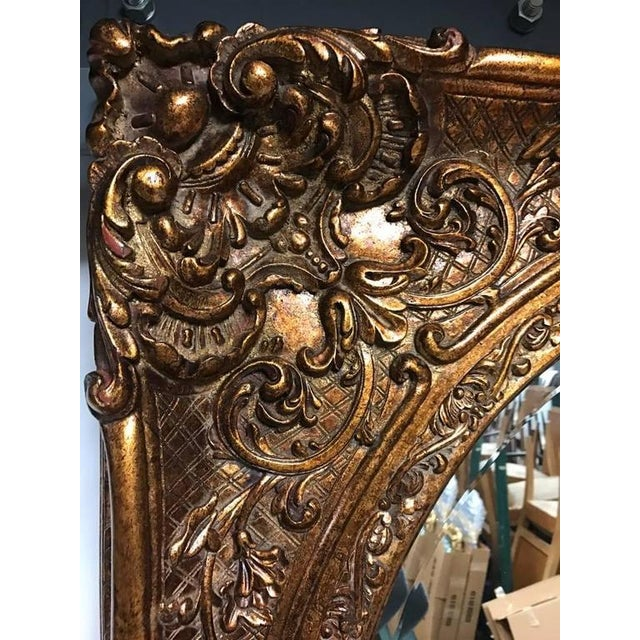 Early 20th Century Giltwood Mirror with Ornate Details For Sale - Image 5 of 6