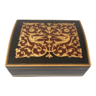 Vintage Florentine Inlaid Wood Box For Sale