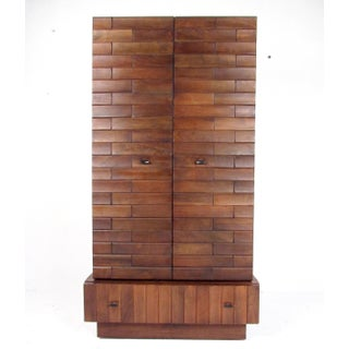 Tall Mid-Century Modern Armoire Dresser Preview