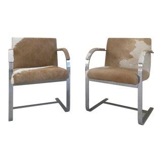 Brno Cream Cowhide Chairs - A Pair