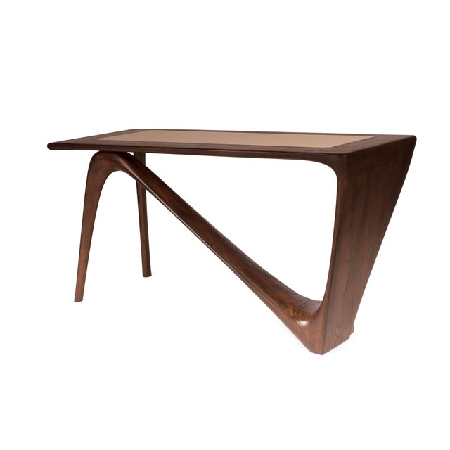 Amorph Astra Desk, Rectangular Shape, Graphite Walnut Finish For Sale In Los Angeles - Image 6 of 9