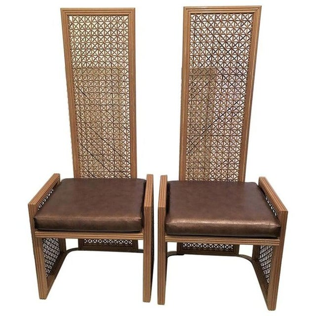 Vintage Viva Del Sud for Casa Bique Wicker Chairs -A Pair For Sale - Image 13 of 13