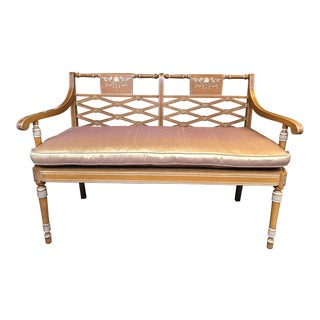 Jackson-Carter Silk Cushion Settee For Sale