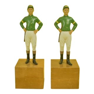 "1960s Vintage ""21"" Club Jockey Bookends - A Pair"