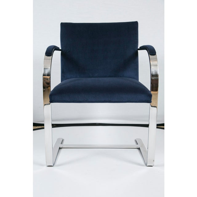 Brno Flat Bar Navy Velvet Chairs - S/6 For Sale - Image 7 of 9