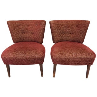 Mid-Century Slipper Chairs Attributed to Gilbert Rohde for Kroehler For Sale