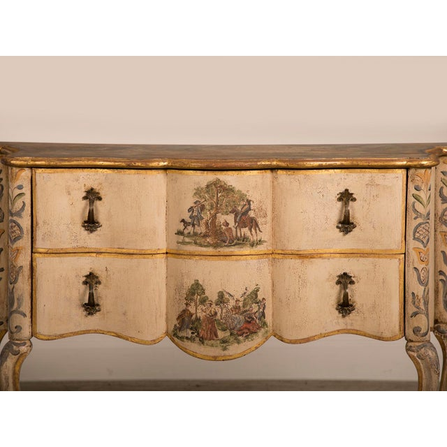 Antique Italian Baroque Painted Two Drawer Chest, circa 1750 - Image 9 of 11