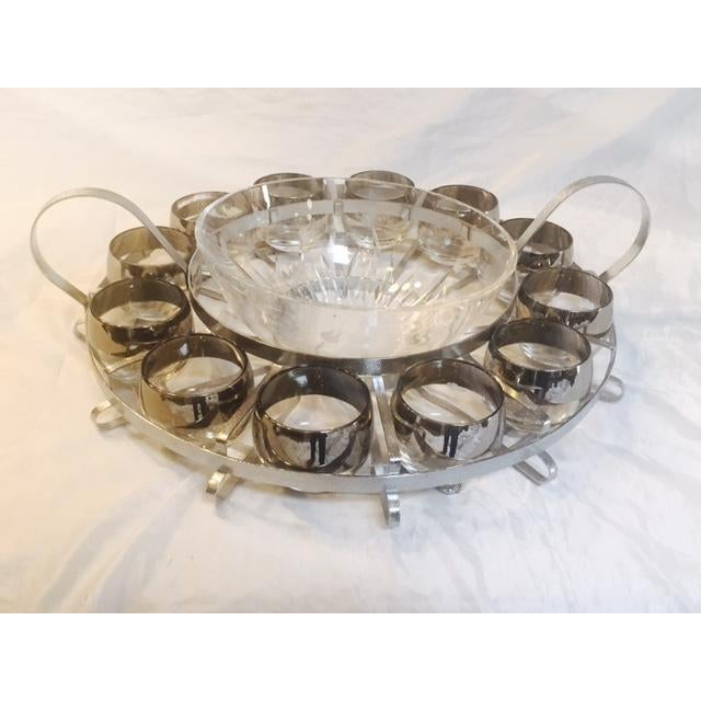 14-Piece Mid-Century Glass Punch Bowl Set - Image 3 of 5