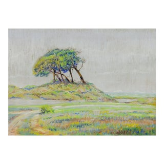 Windswept Trees Pastel by Simon Michael For Sale