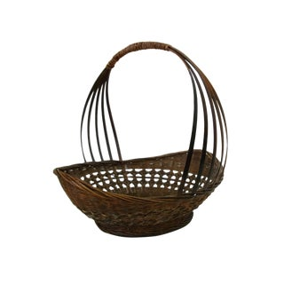 1920s Vintage Country Gathering Basket