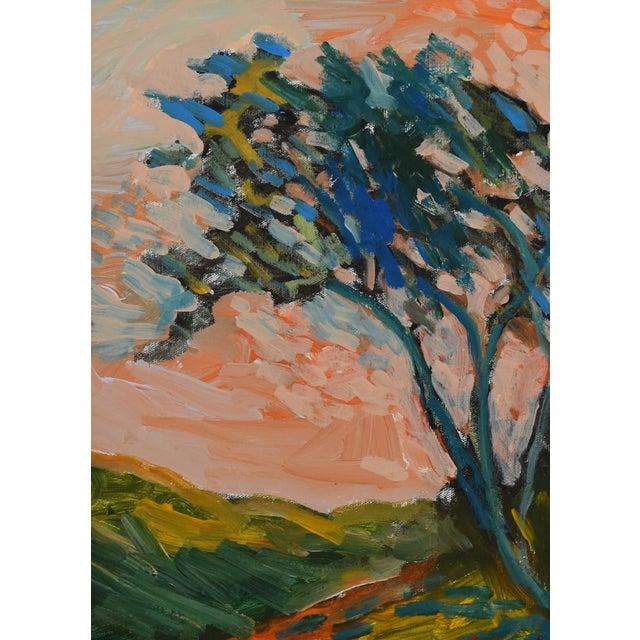 "Late 20th Century Original Juan ""Pepe"" Guzman, Ojai California Plein Air Landscape Painting For Sale - Image 5 of 9"