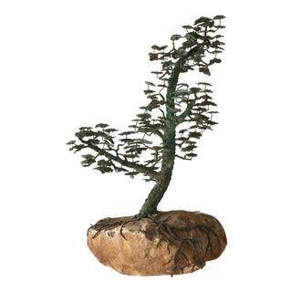 A Rare Bronze of a Bonsai Tree in Full Leaf 1960s For Sale