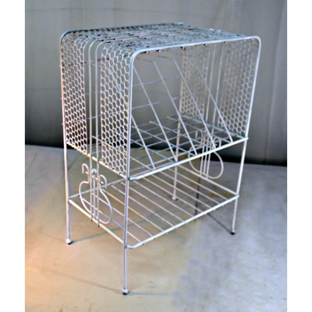 Mid 20th Century 1960s Vintage Metal Music or Magazine Stand For Sale - Image 5 of 9