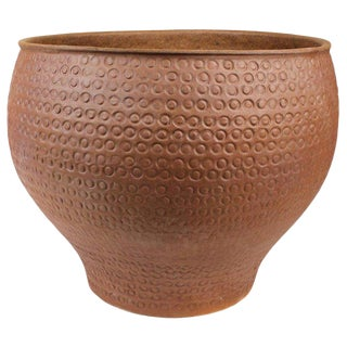 David Cressey for Architectural Pottery Unglazed 'Cheerio' Ceramic Planter For Sale