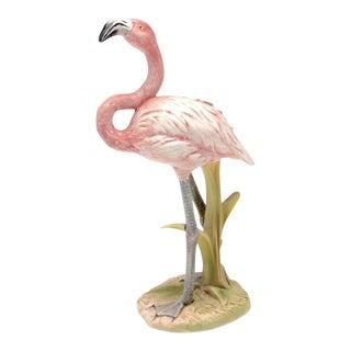 1970s Hollywood Regency Goebel Flamingo Figurine For Sale
