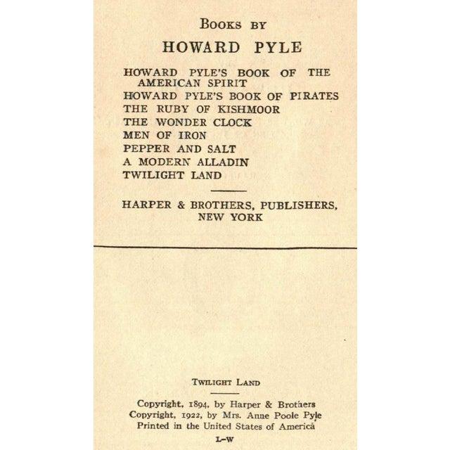 """Twilight Land"" 1922 Book By Howard Pyle - Image 4 of 5"