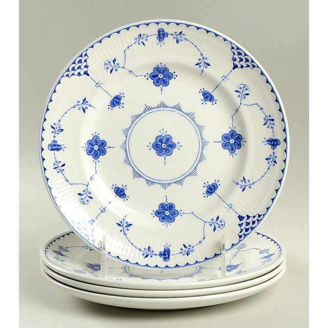 Johnson Brothers Denmark Blue Salad Plate - Set of 4 For Sale In Greensboro - Image 6 of 6