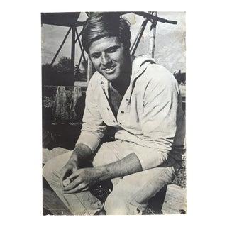 Vintage 1969 Robert Redford Movie Memorabilia Poster For Sale