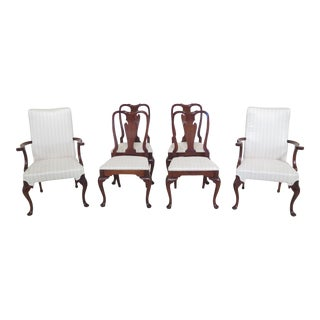 1990s Vintage Hickory Chair Co Style Mahogany Dining Room Chairs- Set of 6 For Sale