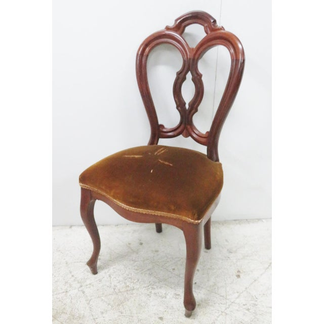 Victorian Mahogany Side Chair - Image 2 of 6