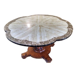 Vintage Marble Top Game Table