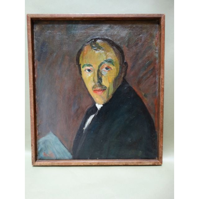 Self-Portrait Oil on Canvas by Ejnar Hansen - Image 3 of 7
