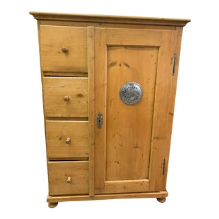 19th Century Rustic Honey Pine Pie Safe For Sale
