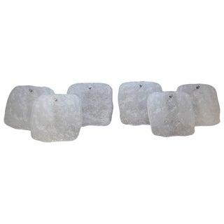 Mid-Century Modern Kalmar Ice Block Sconces - A Pair For Sale