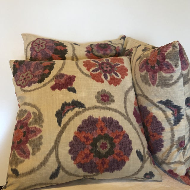 Indah Ikat Decorative Throw Pillows - Set of 3 For Sale In Seattle - Image 6 of 11