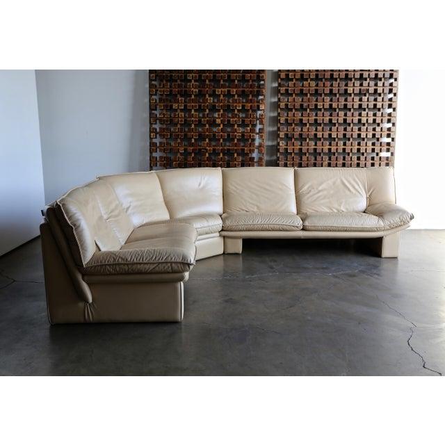 Nicoletti Salotti Modern Leather Sectional Sofa Circa 1985 For Sale - Image 13 of 13