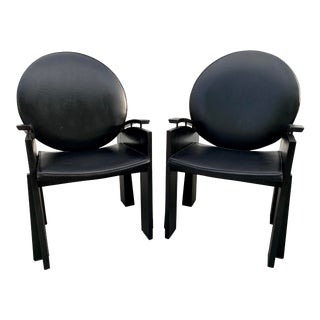 Post Modern Round Back Club Chairs - a Pair For Sale