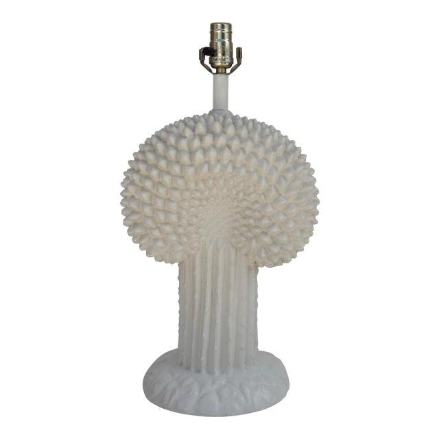 John Dickinson Plaster Palm Cactus Lamp For Sale