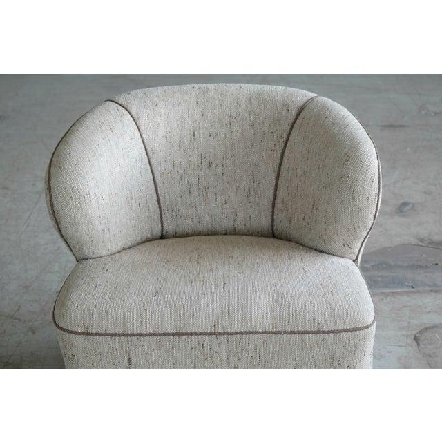 Viggo Boesen Attributed Danish Modern Lounge Chair 1940s - Image 8 of 11