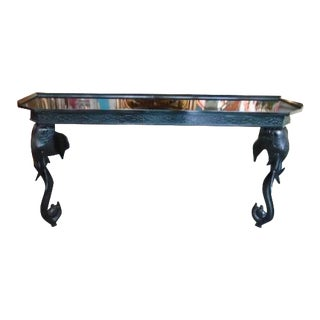 20th Century Hollywood Regency Gampel Stoll Fretwork Elephant Console For Sale