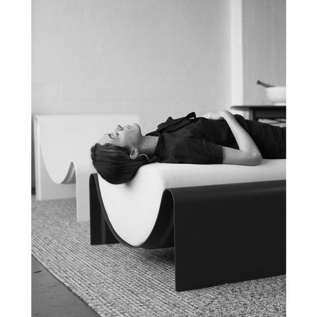 Not Yet Made - Made To Order Minimalist Asa Pingree Eclipse Fiberglass Upholstered Ottoman For Sale - Image 5 of 9