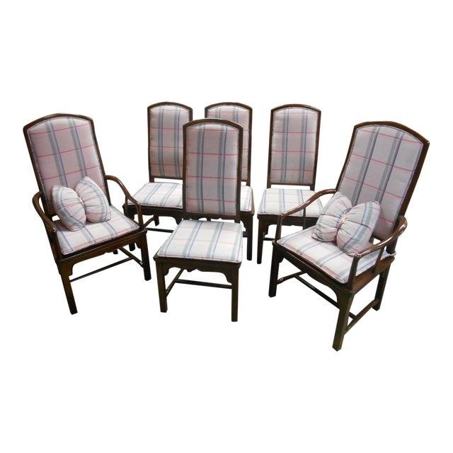 Henredon Pan Asian Dining Chairs - Set of 6 | Chairish