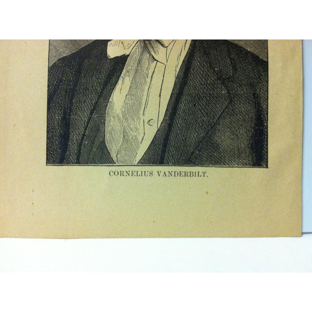 "Portraiture 1880 ""Cornelius Vanderbilt"" Successful Self-Made Men Print on Paper For Sale - Image 3 of 4"
