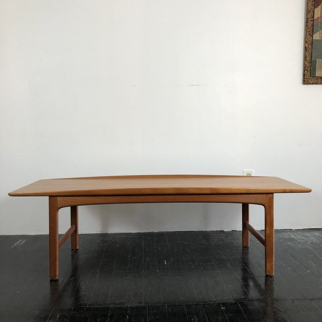 Tingströms 1960's Teak Frisco Surfboard Coffee Table by Folke Ohlsson For Sale - Image 4 of 13
