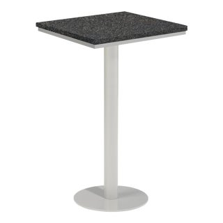 "24"" Square Outdoor Bar Table, Charcoal For Sale"