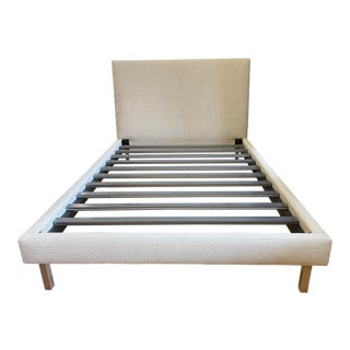 Full Size Room & Board Ella Upholstered Bed Frame For Sale