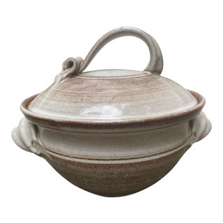Vintage Handmade Soup Tureen With Lid For Sale